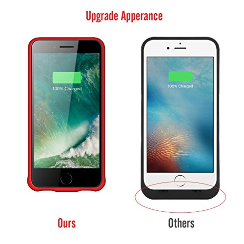 iPhone 8 Plus 7 Plus 6 Plus Battery event help support Headphones YISHDA 7000mAh Rechargeable Extended Battery Protective Charging event for iphone 8 Plus 7 Plus External Battery Backup electrica Bank Charger CaseAlso healthy for iPhone 6S Plus 6 Plus Battery Charger Cases