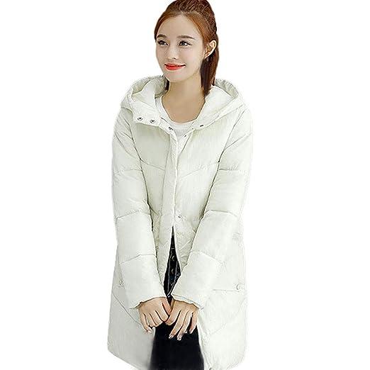 Luckycat Abrigos de Mujer Abrigo de botón con Capucha de Piel Chaquetas de algodón Acolchadas Abrigos de Bolsillo: Amazon.es: Ropa y accesorios