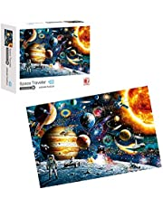 1000 Pieces Space Traveler Jigsaw Puzzles for Adults and Teens-Cardboard Puzzles, Educational Games, Brain Challenge Puzzle for Kids-Unique Home Decorations