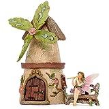 Patio Eden - Fairy Garden House Set - Hand Painted Miniature Figurine Kit - Garden Accessories