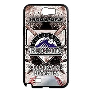 chen-shop design MLB Colorado Rockies Samsung Galaxy Note 2 N7100 Case Cover New Style high XXXX