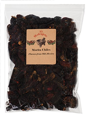 - Dried Morita Chiles El Molcajete Brand 8 oz Resealable Bag - Mexican Recipes, Tamales, Salsa, Chili, Meats, Soups, Stews & BBQ