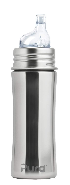 Pura Kiki 897261002641 Trinklernflasche, Edelstahl, 325 ml, unlackiert K-11S2-N1
