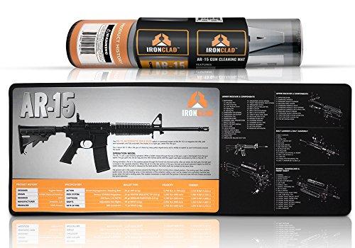 "AR 15 Gun Cleaning Mat (38"" x 14"") 3mm Neoprene - Waterproof ar15 Parts Diagram / Instructions AR 15 Accessories Rifle Cleaning Mat / Pad"