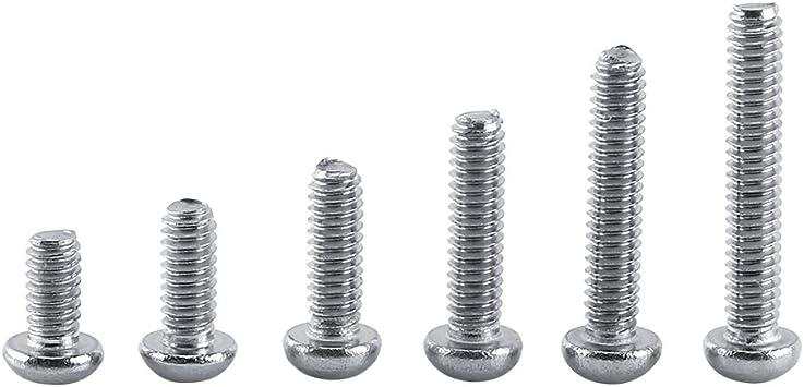 Tornillos de cabeza hexagonal de acero inoxidable M2.5 x 8 mm con arandela de resorte y arandelas lisas Sourcingmap 10 unidades