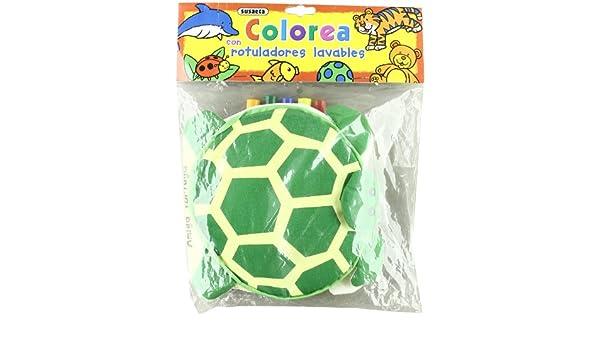 Amiga tortuga, colorea con rotuladores lavables ...