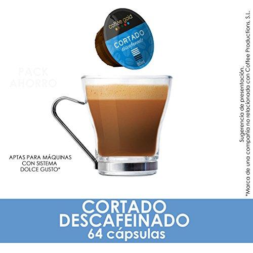 PACK AHORRO- 64 CÁPSULAS COMPATIBLES DOLCE GUSTO®* - CORTADO DESCAFEINADO: Amazon.es: Alimentación y bebidas