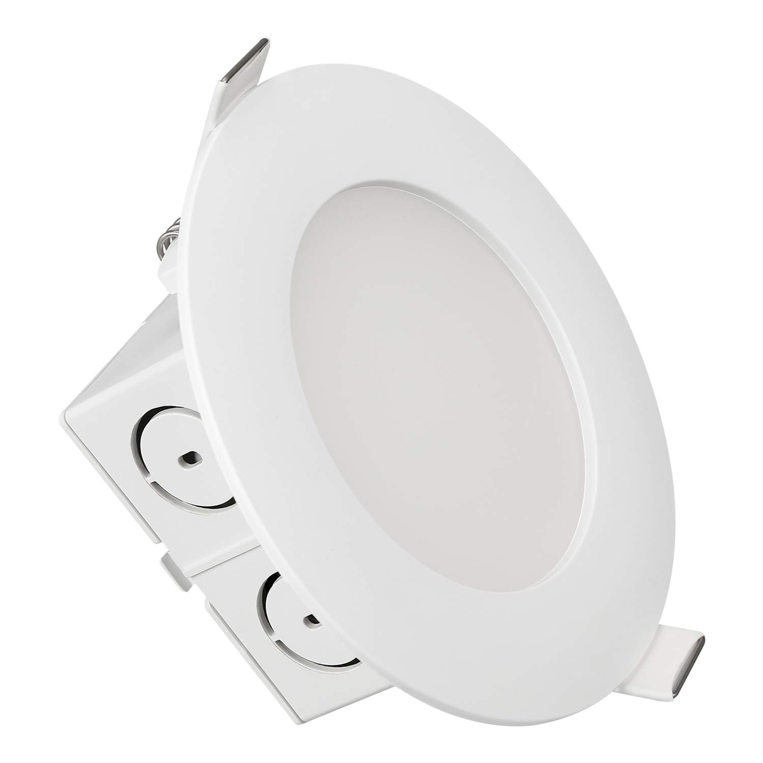 TORCHSTAR 4 Pack 4 inch Slim Recessed Ceiling Light Dimmable Airtight Downlight with Junction Box 9W 65W Equivalent 650lm 5000K Daylight White R1-XB1DL4D-9W50D-4P UL /& Energy Star Certified