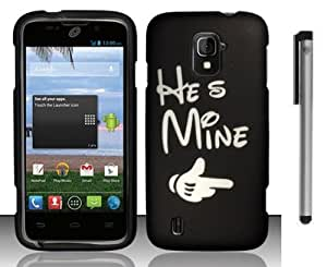 For ZTE Majesty Z796C He's Mine Design Black Hard Cover Case with Stylus Pen and ApexGears Phone Bag