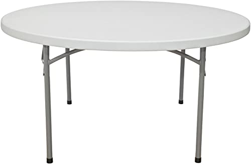 National Public Seating Blow Molded Round Table in White