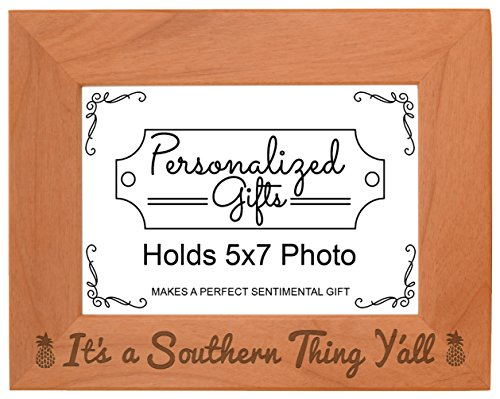 pineapple-home-decor-its-a-southern-thing-yall-natural-wood-engraved-5x7-landscape-picture-frame-woo