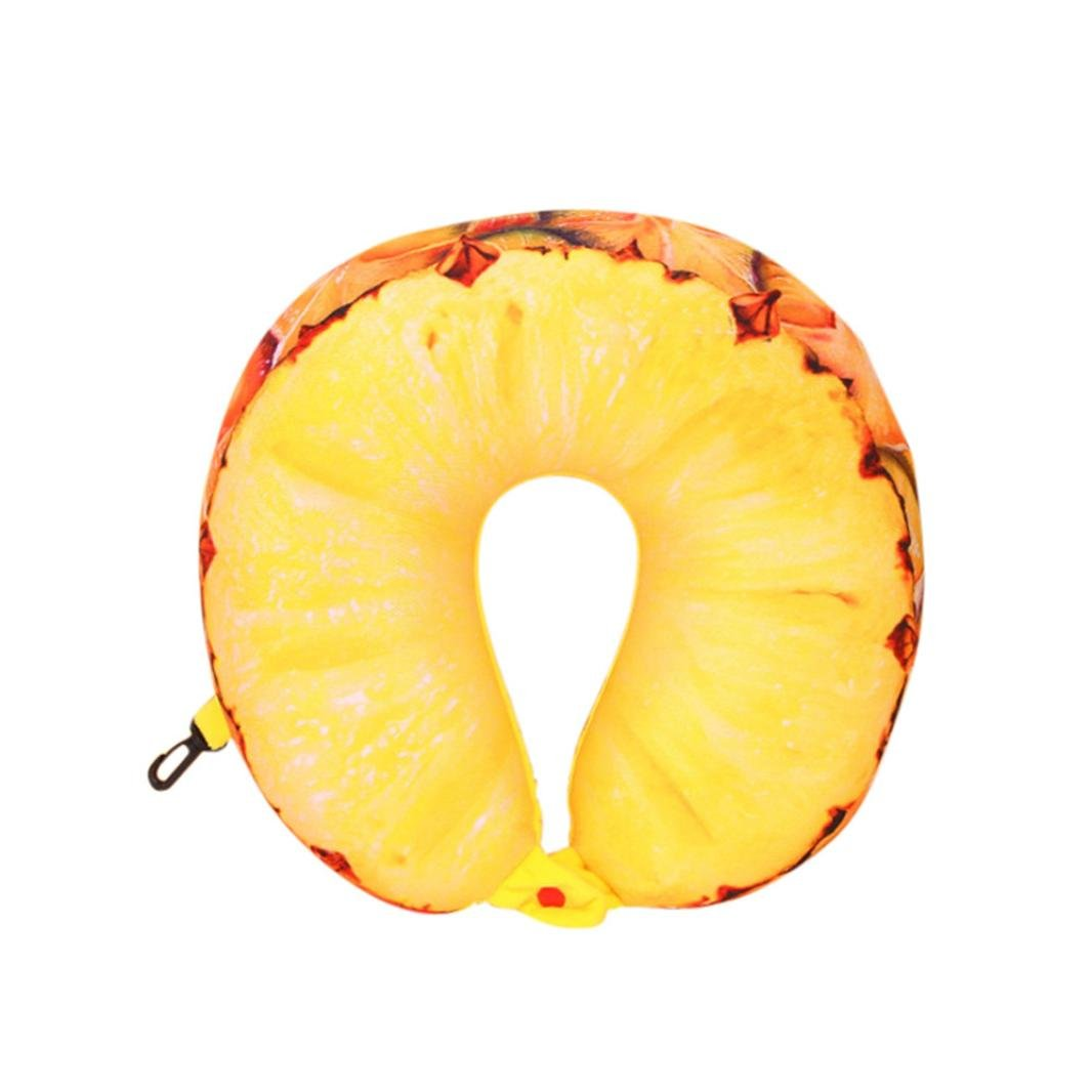 KMG Kimloog Fruit U Shaped Neck Pillows Nanoparticles Travel Car Cushion Pillow For Kids and Adults KMG-0001