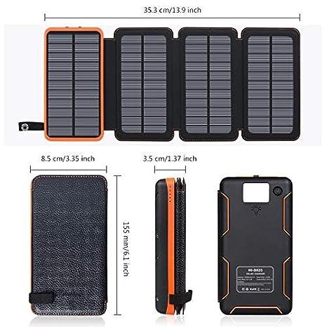 Amazon.com: Hiluckey - Cargador solar portátil: Hiluckey US