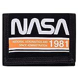 NASA Logo Stripe Velcro Wallet - Nasa Astronaut Velcro Wallet