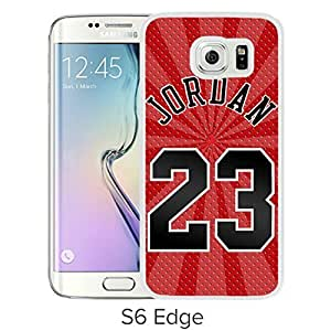Unique and Grace Samsung Galaxy S6 Edge Phone Case Design with Michael Jordan White Cover