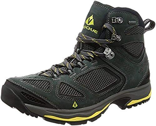Vasque Men's Breeze III GTX Hiking Boots Magnet/Yellow 10 M & Knit Cap Bundle