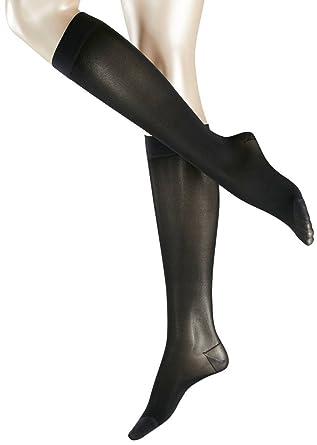 b2833935dec Falke Womens Energize Leg 50 Denier Semi Opaque Matte Knee High Tights -  Black - Extra