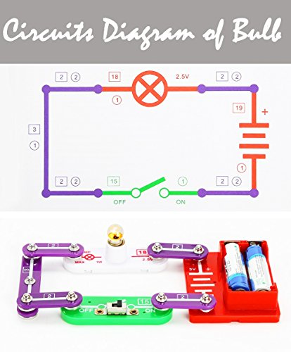 58 DIY Circuits for Kids,Kids Circuits,Kids Circuit Kit,Science Experiments For Kids,Science Experiments Kits For Kids,Electronic Building Block Kit,Science for Kids,Educational Science Kit Toy