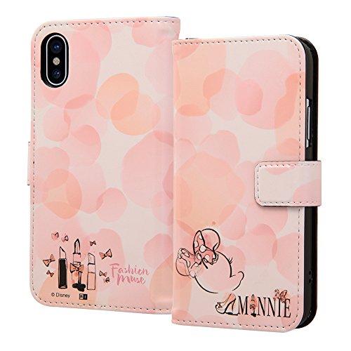 ジャニス関連付ける腰iPhone X/iPhone Xs ケース ディズニー キャラクター 手帳型アートケース マグネット / ミニーマウス16 IN-DP8MLC2/MN016