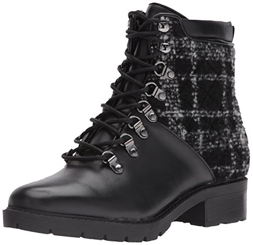 Marc Fisher Women's LANZIA Combat Boot, Grey/Black, 7.5 Medium US