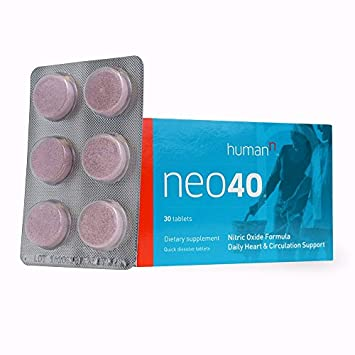 HumanN Neo40 Daily Heart and Circulation Support Nitric Oxide Boosting Supplement 30 Tablets