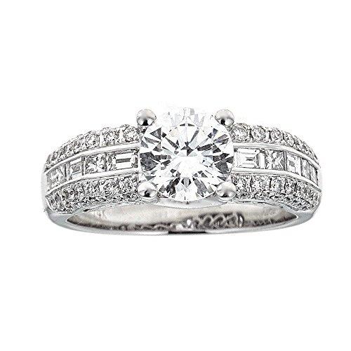 (D'amati Fine Jewelry Simon G. 14K White Gold & Diamond Engagement Ring)