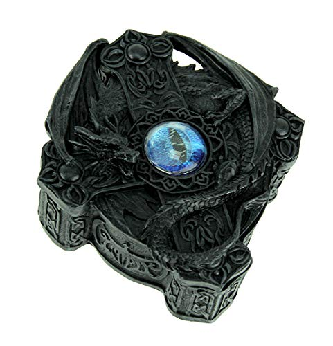 Eye of The Blue Dragon Celtic Cross Trinket Box Celtic Cross Trinket Box
