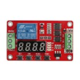 DROK Multifunctional DC 12V 1 Channel Relay Board Single-channel Relay Module 10A Portable Timer Switch Board Power Switch Circuit