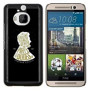 YiPhone /// Prima de resorte delgada de la cubierta del caso de Shell Armor - Partido Dudes Libro Negro Abraham - HTC One M9Plus M9+ M9 Plus