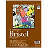 "Strathmore STR-475-1 15 Sheet Bristol Vellum Pad, 11 by 14"""