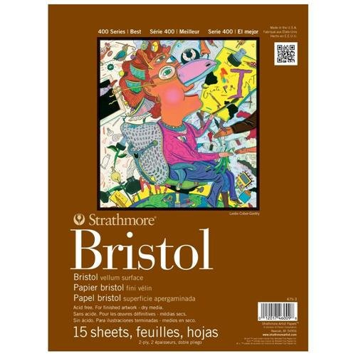100 Series Bristol, 2-Ply Vellum, 11 by 14