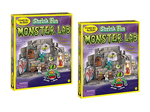 Faber Castell Creativity for Kids Shrink Fun Monster Lab - Bundle of -