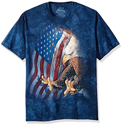 The Mountain Men's Eagle Freedom T-Shirt, Blue, Small (Freedom Eagle T-shirt)