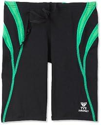 TYR Men\'s Alliance Durafast Splice Jammer Swim Suit (Black/Green, 30)