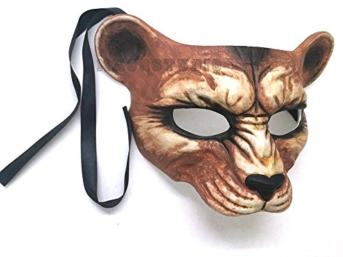 Halloween Masquerade Leopard Mask Animal Cosplay Haunted House Costume Party Wear or Deco -