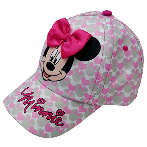 Disney Toddler Girls Minnie Mouse Bowtique Cotton Baseball Cap, Age 2-3