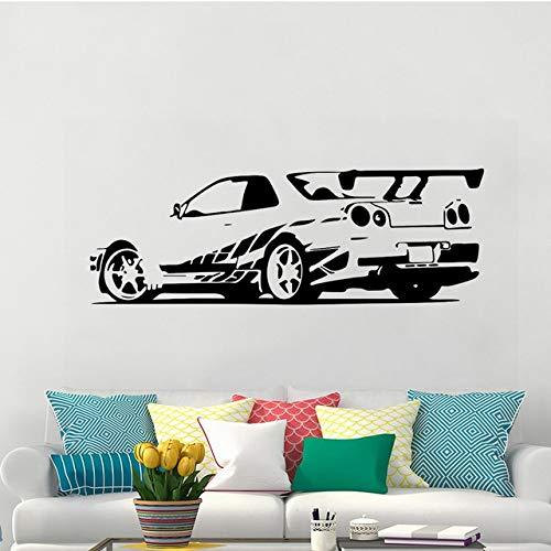 42x120cm,Wall Stickers for Kitchen Room Decoration,Wall Tattoo Art,GTR Skyline Sports Racing Car -