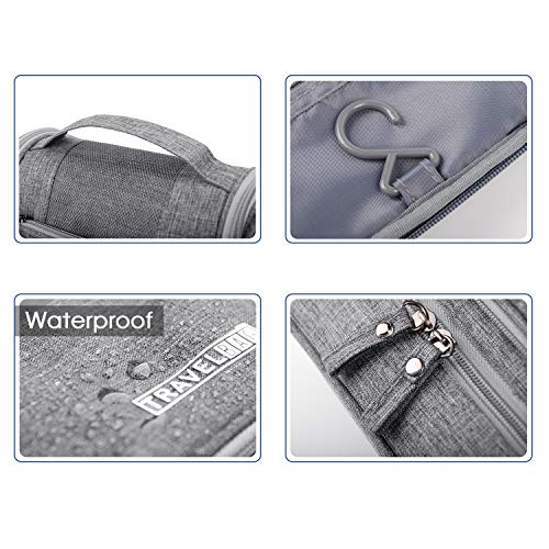 Narwey Travel Toiletry Bag Hanging Cosmetic Makeup Organizer Shaving Kit Waterproof for Men and Women by Narwey (Image #4)
