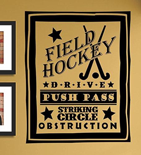 Field hockey drive push pass striking circle obstruction Vinyl Wall Art Decal Sticker