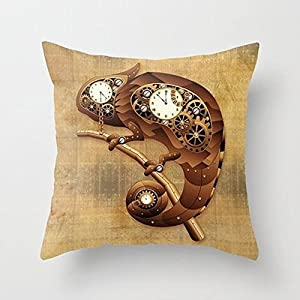 Busy Deals New Steampunk Chameleon Vintage Style Pillowcase Home Decoration pillowcase covers