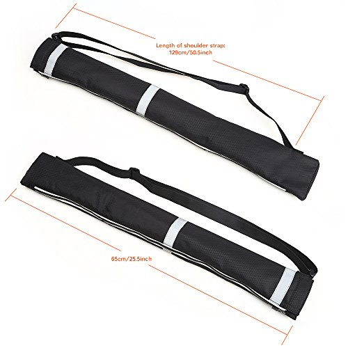 (Atopxing 2PCS Reverse Umbrella Carry Bags, Double Layer Inverted Umbrella Storage Bag, Waterproof and Anti-Dust Reversible Umbrella Cover with Adjustable Shoulder Strap and Reflective Safety Stripes.)
