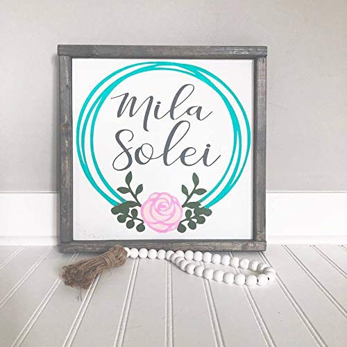 - MaxwellYule Girl Nursery Sign Name Signs Baby Name Signs Rustic Dcor Nursery Room Decor Farmhouse Sign Girl Decor