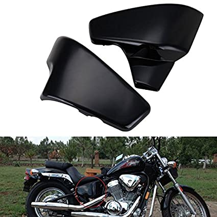 Pair Motorcycle Battery Side Fairing Cover Fit For Honda Shadow VLX Deluxe  VT600C VLX 600 STEED400