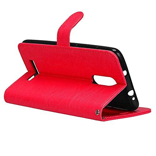 Rouge Housse cadre 3 Pochette Xiaomi noir Coque pro Note Pour Pu Etui Doux Aimant Laybomo Photo Protecteur Redmi Cuir Portefeuille Tpu Cover q1Tx0