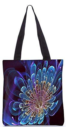 """Snoogg Neon Blütenblätter Einkaufstasche 13,5 X 15 In """"Einkaufstasche Dienstprogramm Trage Aus Polyester Leinwand"""
