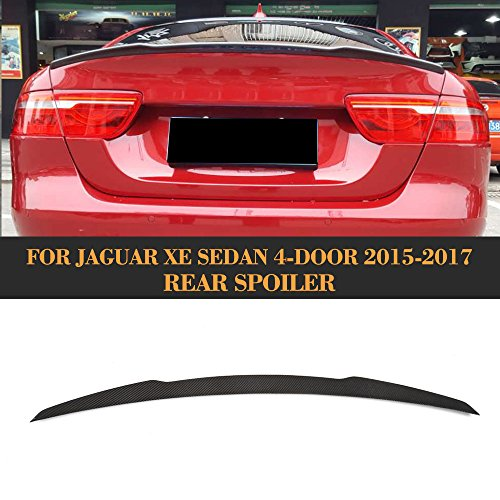 For Jaguar XE Sedan 2015 2016 2017 Factory CNC Moulding Carbon Fiber Top-fit Car Styling Tuning Body Kits (Rear Trunk Wing Spoiler) by MCARCAR KIT