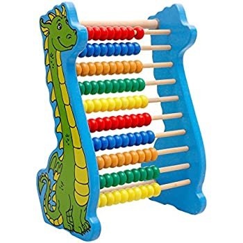 Lewo Wooden Abacus Classic Math Educational Counting Toys with 100 Beads