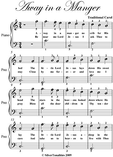 Away in a Manger Easiest Piano Sheet Music (Away In A Manger Piano Sheet Music)