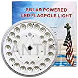 ANTIEE Flagpole Light,Solar Flag Pole Light Electric Waterproof Rainproof Anti-ice 26 LED for 15 to 25 Ft Flag Pole for Night Lighting