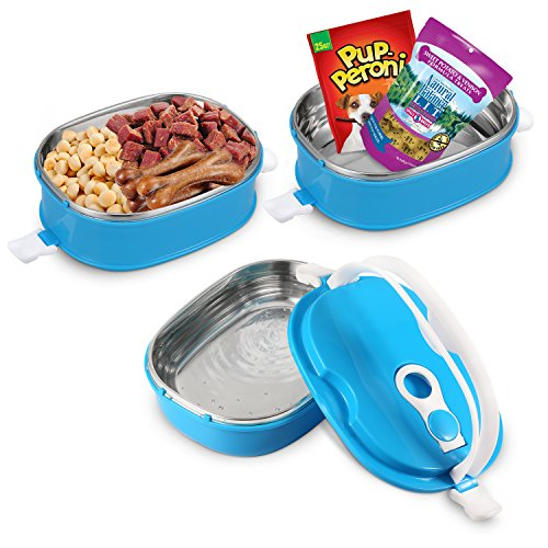 Spill Proof Dog Cat Travel Bowl Portable 304 Stainless